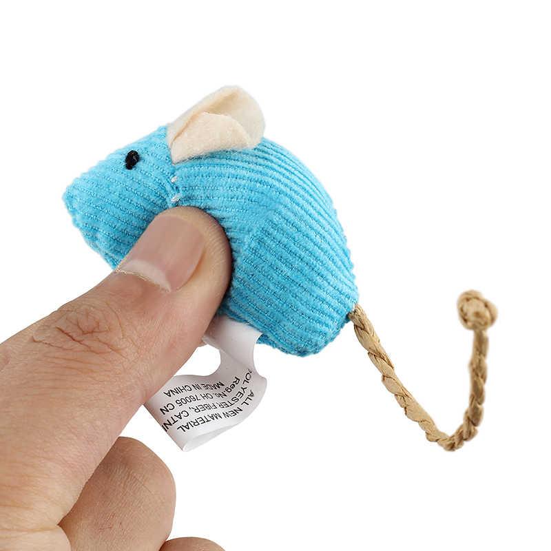 6 pz/lotto Casuale Della Miscela Pet Giocattolo Catnip Mouse Gatti Giocattoli Divertente Peluche Topo Giocattolo Gatto Per Il Gattino