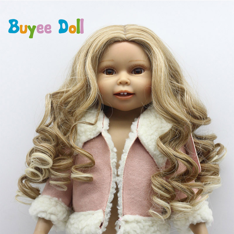 DIY Brown Color Curly Hair Wig Hairpiece for 1/3 1/4 1/6 BJD SD LUTS Dolls Making & Repair