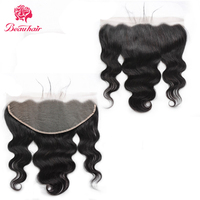 Beauhair 13X6 Lace Frontal Closure body wave Human Hair Closure with Baby Hair Peruvian Ear To Ear Lace Frontal Non Remy closure