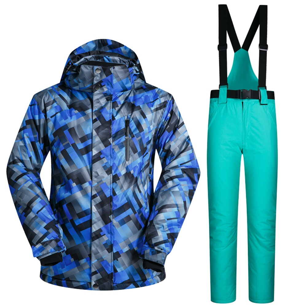 Artic Cold Weather Men's Snow Suit Breathable Waterproof Snowboard Jackets and Pants Sets Male Winter Skiing Clothing 2017 winter snow weather womens ski suits waterproof female snow jackets and pants sets thicken breathable snowboard clothing