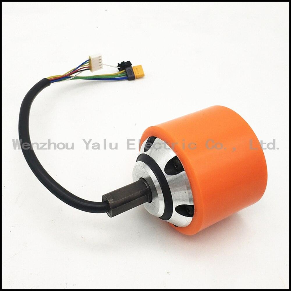 Moteur de moyeu de roue de 100 W 24 V pour le dispositif mobile de bagage de planche à roulettes de scooter YLLG-043 70mm