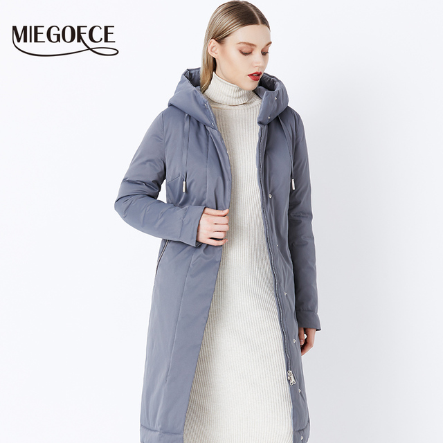 2018 MIEGOFCE Winter Women's Collection New Stylish Fashion Coat Winter With Bio Fluff Collection Spacious Warm Women's Coat