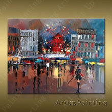 Paris Street Art Painting Home Decor Decoration Oil painting Wall Pictures for living room Decor	paint art paint6