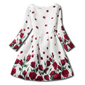 Spring Princess Children Girl Dress Spring Kids Dress Butterfly Print lady Style Princess Dress Party Girls Baby Clothes Dresses