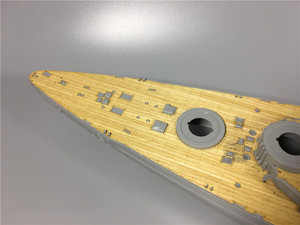 Image 2 - 1/350 Scale Wooden Deck for Revell 05040 Bismarck Battleship Model Kit CY350034