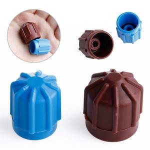 Image 4 - 2 قطعة سيارة AC A/C المبردات غطاء صمام صمام مرحبا/لو الجهد R134a غطاء غبار كاب