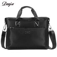 DANJUE Men Bag High Quality Oxford Cloth Handbag Male Zipper Leisure Business Bag Waterproof Black Briefcase