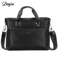 DANJUE Men Bag High Quality Oxford Cloth Handbag Male Zipper Leisure Business Bag Waterproof Black Briefcase