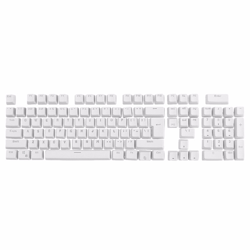 Hot Sale White 106 Keys Backlit Gaming Keyboard Keycap Top Printed Backlight Key Cap For Gaming Mechanical Keyboard PC switch keycap o ring sound dampeners white for mechanical keyboard keys 104 pieces key cap rubber o ring switch buffer