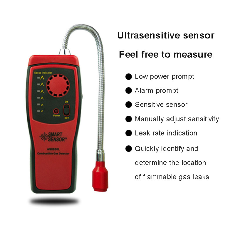 Portable Combustible Gas Leak Alarm Detector Port Flammable Natural Leakage Location Determine Meter Tester Security Tools