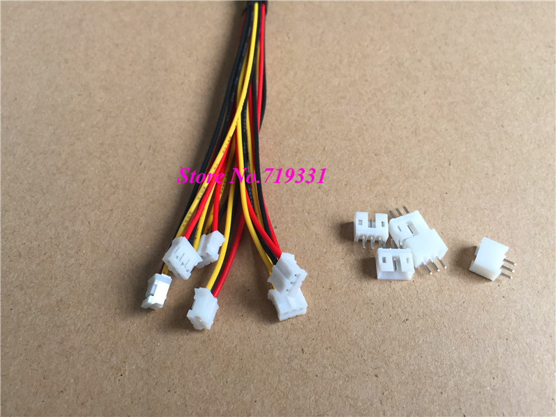 20 Sets JST 2.0mm PH 6-Pin Female Connector Plug with Wire and Male Connector