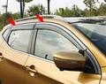 ACCESSORIES SET FIT FOR 2014 2015 2016 NISSAN QASHQAI SIDE WINDOW RAIN DEFLECTORS GUARD VISOR WEATHERSHIELDS DOOR SHADE WEATHER
