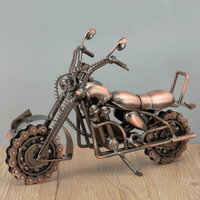 Classical Metal Motorcycle Model Miniature Figurines Ornaments Modern TV Wine Cabinet Living Room Home Decoration Accessories