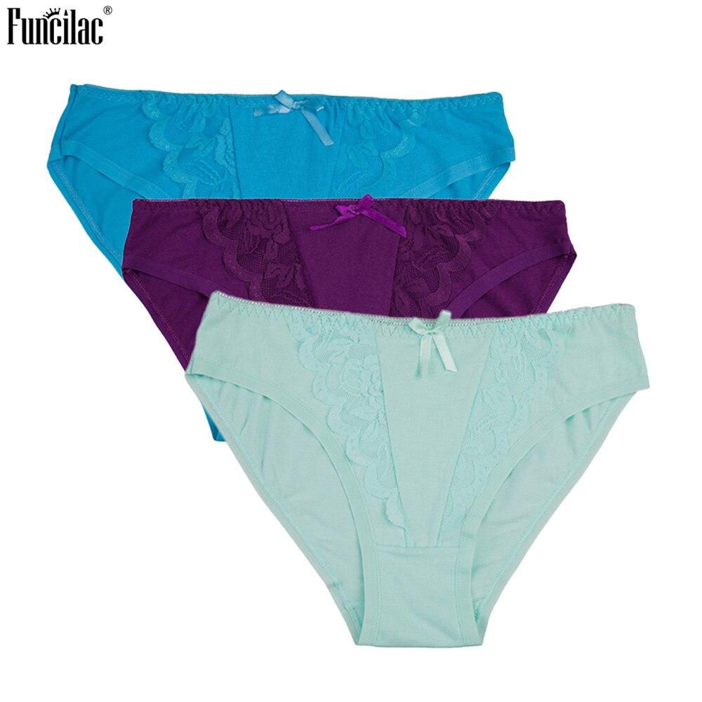 Felsonac mujeres bragas algodón Lace Patchwork calzoncillos para niñas  bajo-subida mujeres sólidas arco transparente 2456ba3a56f5