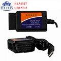 Недавно ELM327 USB V1.5 Профессиональный OBD/OBDII ELM Стандарт Последние Scan Tool ELM 327 USB/Bluetooth/Wi-Fi диагностический Сканер