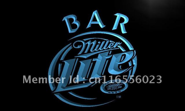 La406 miller lite bar beer led neon light sign home decor shop la406 miller lite bar beer led neon light sign home decor shop crafts aloadofball Gallery