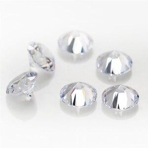Image 4 - 5000 pièces 5A CZ pierre 0.8 5.0mm prix usine rond Machine coupe blanc couleur lâche cubique zircone gros synthétique pierre précieuse