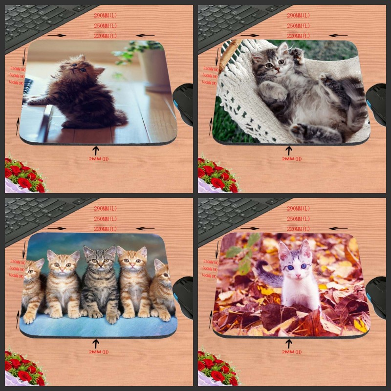 Fashion Customized Support Cute Cat Gaming Rubber Mouse Pad aming ear Anti-Slip Durable Rubber Mousepad for PC Optal Mouse