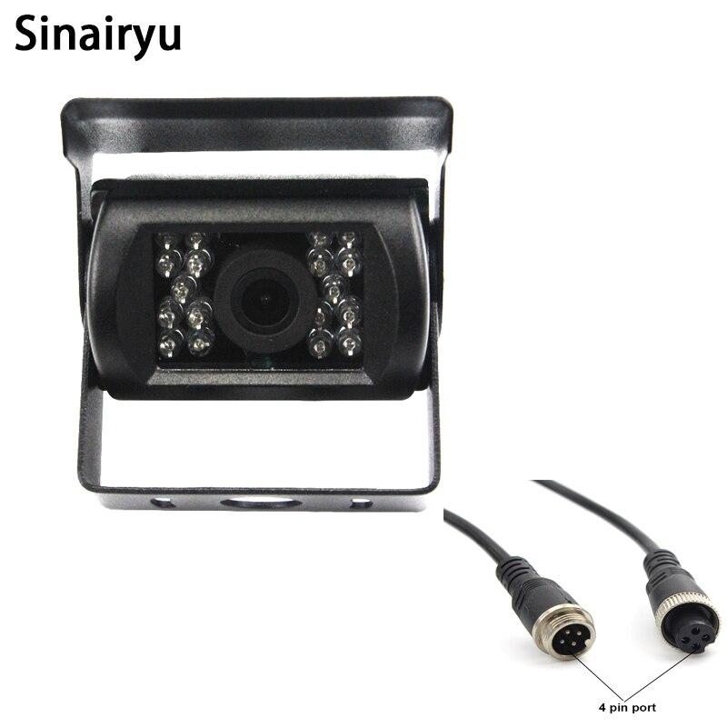 4 Pin Bus Trailer CCD 18 LED инфракрасная камера заднего вида для автомобиля с ночным видением, 12 В, бесплатная доставка