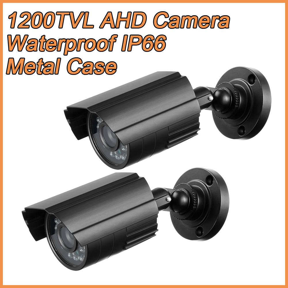 2PCS/lot 1200TVL HD Mini CCTV Camera Outdoor Waterproof IP66 20M IR IR-CUT infrared Security Surveillance Camera Metal Housing diy cctv metal camera housing case indoor outdoor ip66 cctv camera ir waterproof camera metal housing cover