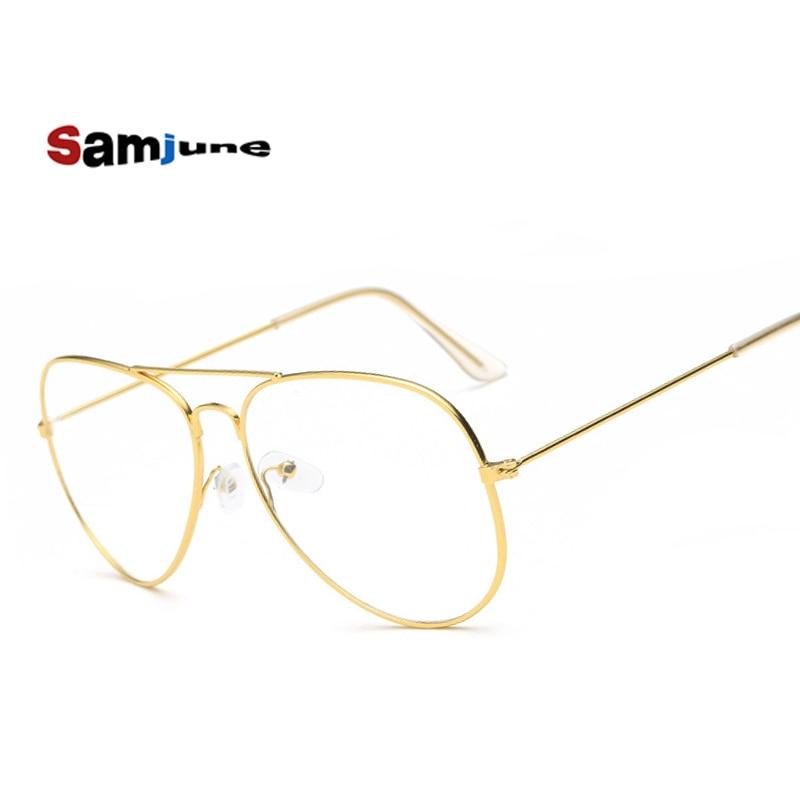 Samjune Clear Glasses Eyewear-Accessories Frames Transparent Men Retro Women Luxury Brand