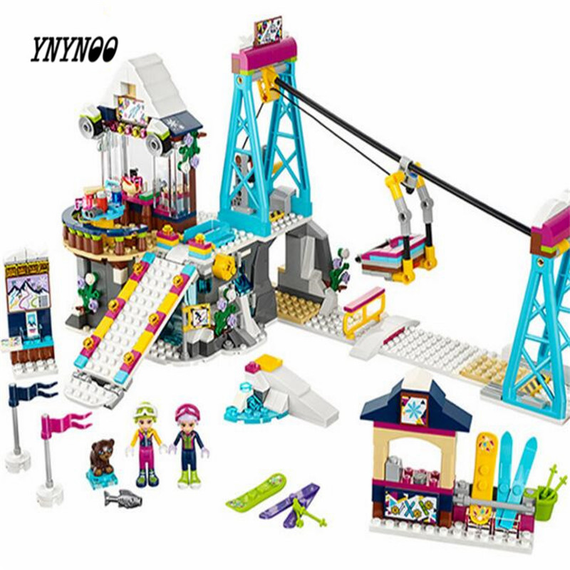 YNYNOO LEPIN 01042 Friends Snow Resort Ski Lift Gift Club Ski Vacation Skiing Figure Building Blocks Bricks Toys For Girls mediterranean resort 4 паралия катерини пиерия