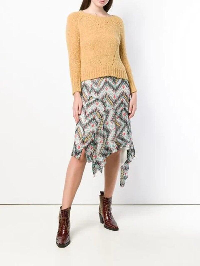 2019 nueva falda Irregular de cintura elástica con estampado de flores para mujer-in Faldas from Ropa de mujer on AliExpress - 11.11_Double 11_Singles' Day 1