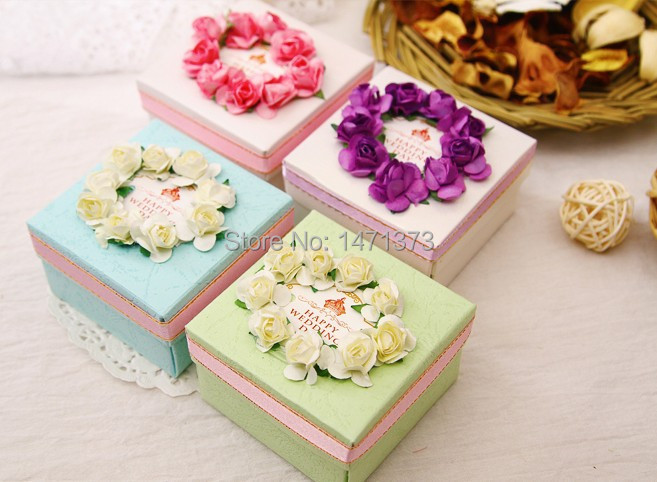 Handmade Decorative Boxes Pleasing 2015 Real Event Supplies New Handmade Paper Wedding Gift Box Candy Design Ideas