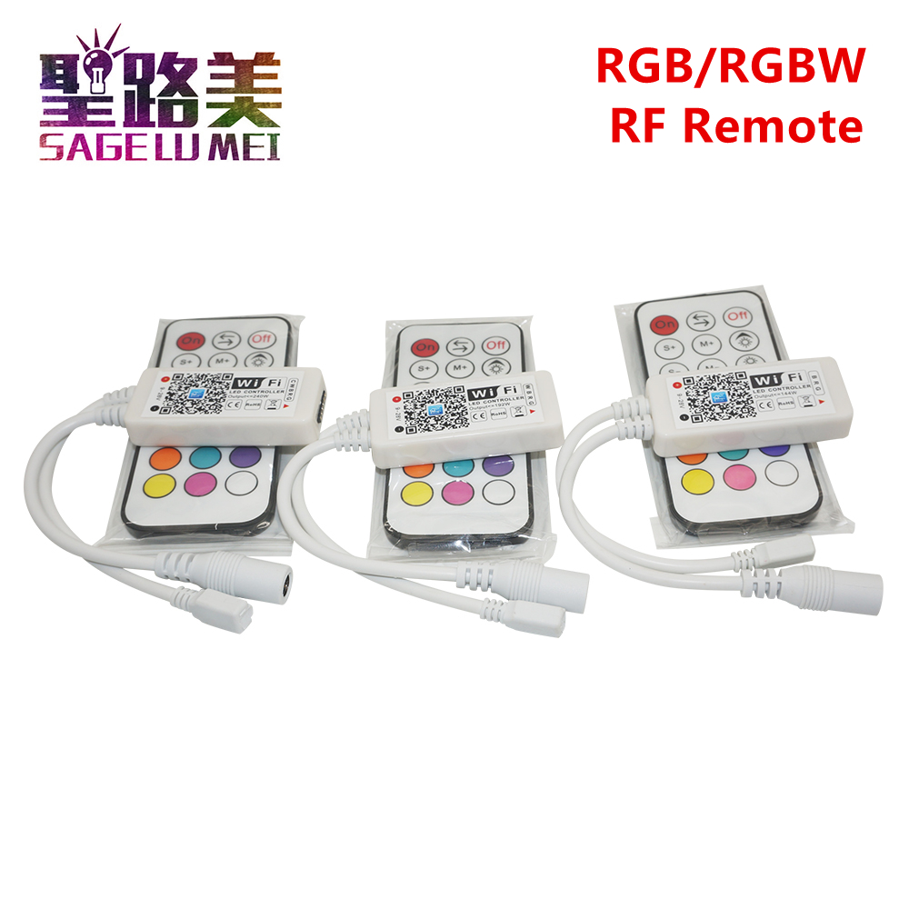 DC12-24V Wireless WIFI LED RGB / RGBW Controller RF Remote Control IOS/Android Smart Phone Wireless for RGBCW/RGBWW rgbLED Strip mini wifi 01 smart wireless 3 ch wi fi ios android phone controlled rgb light strip controller