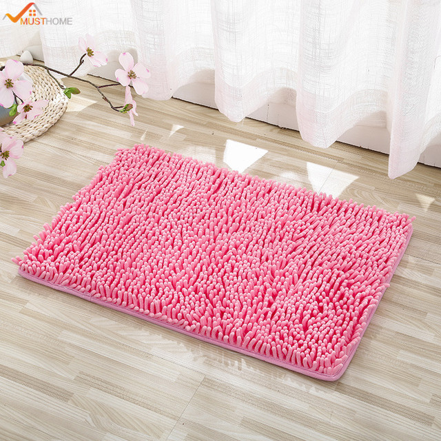 40 60cm Chenille Non Slip Bath Mat Rug Washable Soft Gy Absorbent Multipurpose Shower
