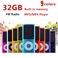 slim 4th gen mp4 player 32GB 9 Colors for choose Music playing time 30Hours fm radio video player