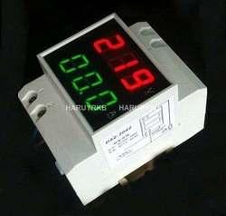 Digitale 100A LED Dual Display Din-Schiene AC Amperemeter Voltmeter Spannung AC 220 v 380 v 230 v 240 v Spannung strom meter