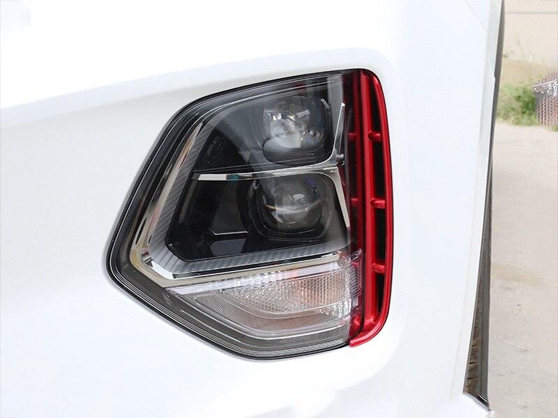 Image 3 - Автомобильные фары воздухозаборник отделка хром стиль внешние аксессуары для hyundai Santa Fe Santafe IX45 4TH 2019 2020-in Хромирование from Автомобили и мотоциклы
