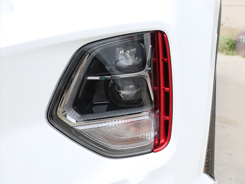 Image 3 - Car headlights air intake trim chrome style exterior accessories for Hyundai Santa Fe Santafe IX45 4TH 2019 2020-in Chromium Styling from Automobiles & Motorcycles