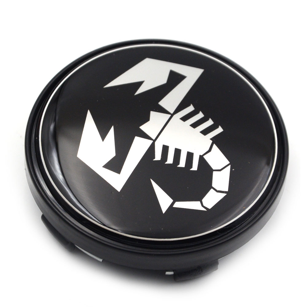 Gzhengtong Pcs Lot Mm Black Auto Wheel Center Badge For Fiat Abarth Wheel Centre