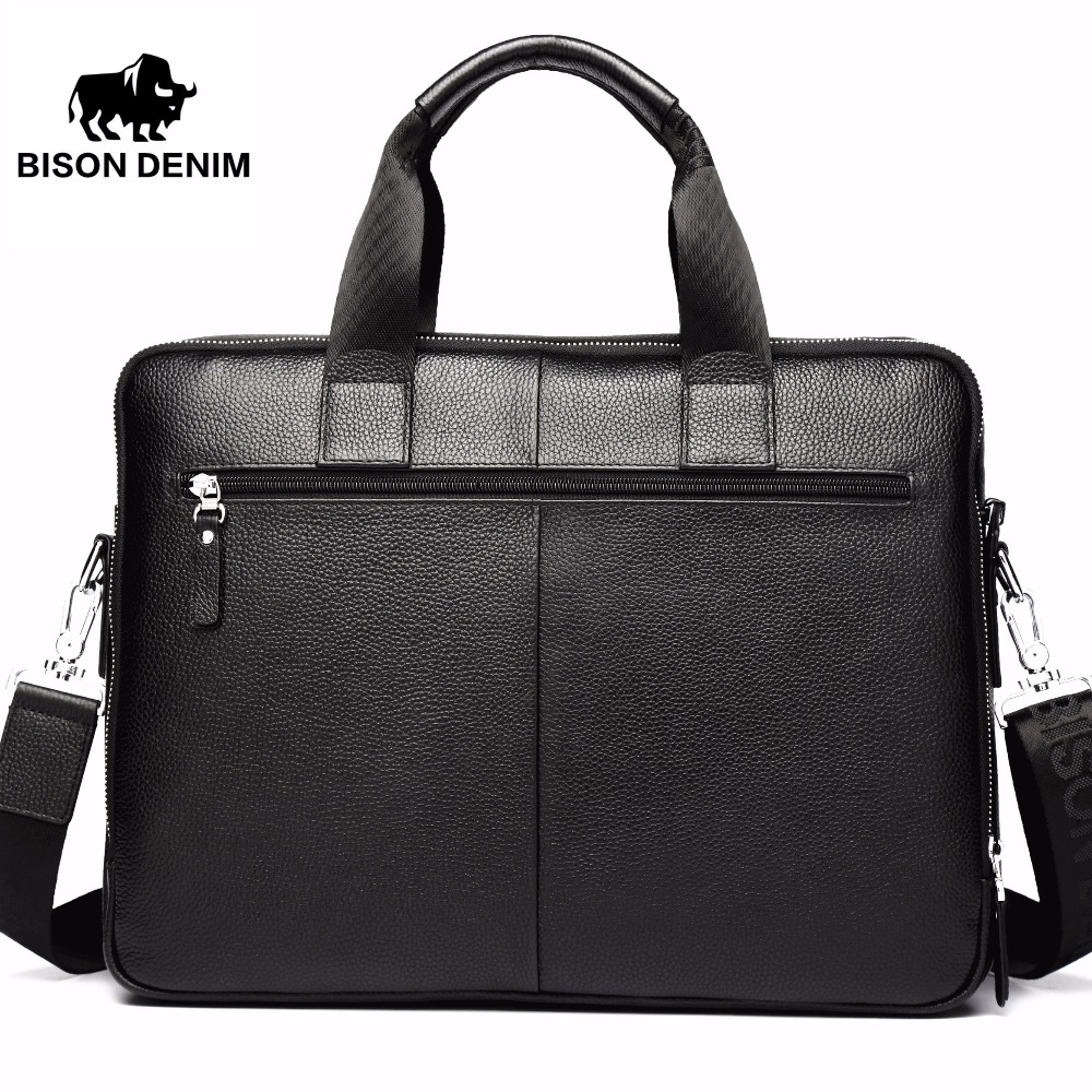 Bison Denim Genuine Leather 14 '' Torbica za prijenosno računalo - Aktovke - Foto 3