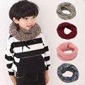 1 Unids Moda Niños Bebé Niño Niña Invierno Cálido Bufanda Que Hace Punto Suave de 5 Colores Bufanda