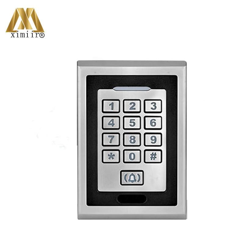 Boîtier de contrôle d'accès étanche à la Surface boîtier en métal Led lecteur de contrôle d'accès au clavier M04 système de contrôle d'accès de carte MF autonome