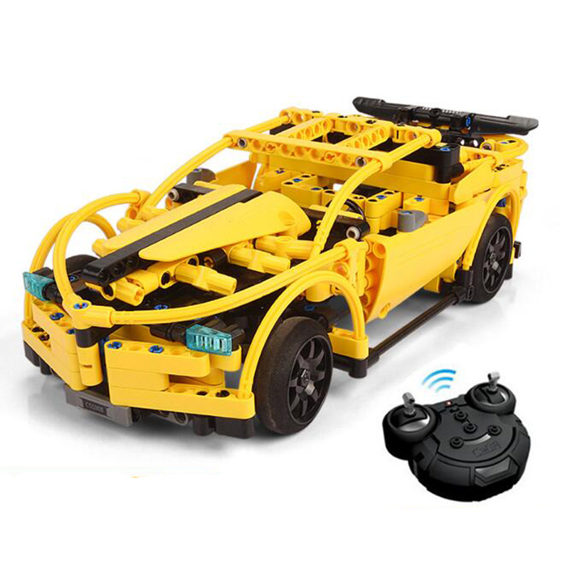 Sports Car Model Blocks Toys RC Racing Car Education Gifts For Kids Christmas Compatible Technic Series Building Blocks Set kids pedal go kart ride on rubber wheels sports racing toy trike car ricco