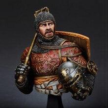 1/10 Resin Bust model kit Italian Horseman w/ Mace, 14th c history figures Unpainted