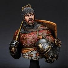 1/10 harz Büste modell kit Italienischen Horseman w/Keule, 14th c geschichte figuren Unlackiert