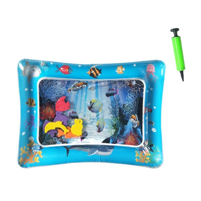 Baby Inflatable Water Play Mat Infant Gym Playmat Kids Thicken PVC Creative Dual Use Patted Pad Toy Toddler Funny Cushion Toy