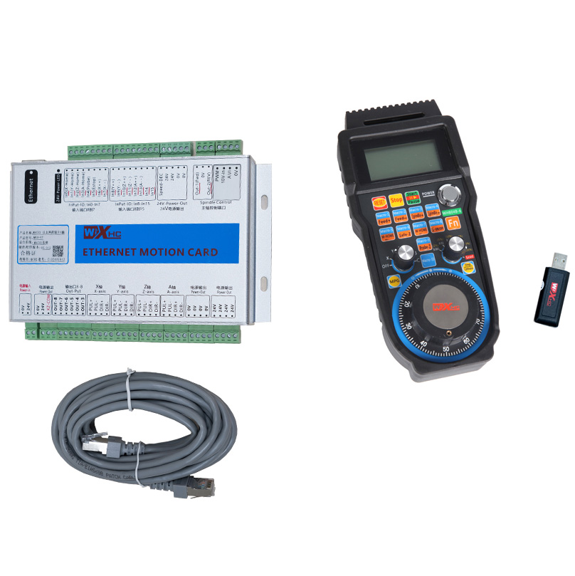 MK4 ET XHC 4AXIS Mach3 Etherent cnc control card 2MHZ and MACH3 Wireless cnc remote WHB04B