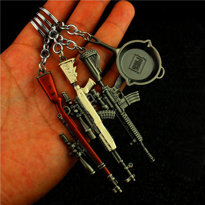 Novelty & Special Use Costumes & Accessories Lovely Pubg Mini 98k Helmet Pan M416 Sks Game Playerunknowns Battlegrounds Keychain Weapon Model Keyring Zinc Alloy Strengthening Sinews And Bones