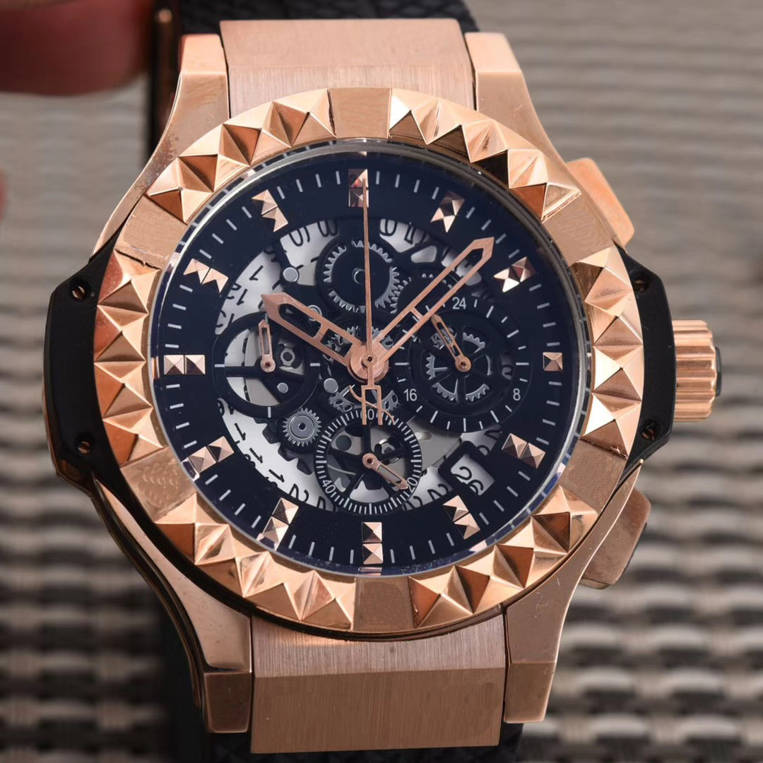 Luxury Brand New Quartz Chronograph Men Watch Stopwatch Rose Gold Silver Unico Date Sapphire Crystal Watches Black Rubber AAA+Luxury Brand New Quartz Chronograph Men Watch Stopwatch Rose Gold Silver Unico Date Sapphire Crystal Watches Black Rubber AAA+
