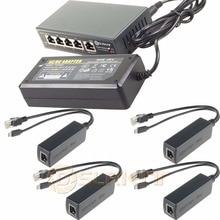 250M EXTEND PoE Kit for 4x Raspberry Pi B/B+/2/3 Micro USB 5V 2.4A /Switch 4 PoE