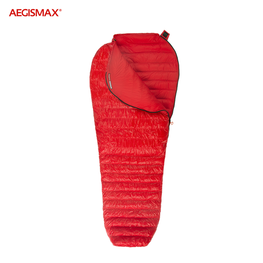 AEGISMAX 800 Fill Power Goose Down Sleeping Bag 3 Season Mummy Ultralight Backpacking Camping Hiking