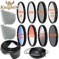 KnightX макро Макро SLR Объектив Комплект Фильтров УФ CPL FLD nd комплект для canon nikon d3300 d3200 d5200 d5300 d5500 sony 52 мм 58 мм 67 мм