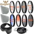 KnightX Close up Macro SLR Lens Filter Kit UV CPL FLD nd Kit for canon nikon d3300 d3200 d5200 d5300 d5500 sony 52mm 58mm 67mm