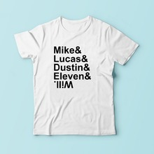 02660bcdb1f GILDAN MIKE LUCAS DUSTIN ELEVEN WILL design t shirt men JOLLYPEACH white  Casual